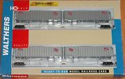 Walthers 932-23926 Gold Line Flexi-van With Trailers 2-pack Milwaukee Road 2