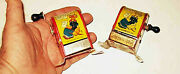 Pair 2 Diff Variant 1929 Irwin Popeye The Sailor Tin Litho Pencil Sharpeners