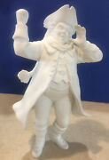 Department 56 Winter Silhouette Town Crier 7800-0 Retired - Bell Not Included