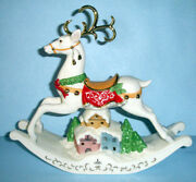 Lenox Christmas Holiday Reindeer Rocking Horse Lighted Hand Painted New In Box