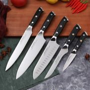 Japanese Kitchen Knives Chef Tools Knife Set Germany 1.411 High Carbon Steel
