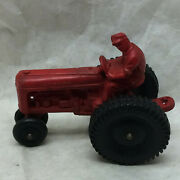 Vintage Auburn Toy Tractor Rubber Red Allstate Tires
