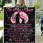 To My Mom I Just Want To Say Thank You Love Daughter Sherpa Fleece Blanket Gift