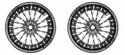 Royal Enfield Classic 350 500cc Vintage-2 Alloy Wheel Kit 19and039and039-18 Disc -drum