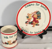 Poohandrsquos Winter Wonderland 1996 Disney Cup And Saucer Christmas Cookies For Santa
