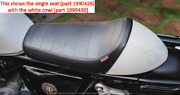 Royal Enfield Single Rider Seat And Ice Queen Cowl For Continental Gt 650