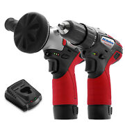 Acdelco G12 12v 3 And 3/8 Cordless Mini Polisher And Drill Driver, Ars1214-k17