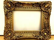 Antique Reproduction Gold Gilt Vintage Picture Frame Opening 12x16