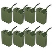 8pcs Jerry Can Gasoline Fuel Can Emergency Backup Caddy Tank 5 Gal 20l