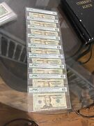 20 Federal Reserve Note Collection S/n 0-9