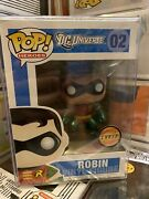 Funko Pop Heroes - Robin 02 Og Dc Universe Chase Edition W/ Free Protector