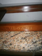 Rare Bvlgari Solid Wood Display Jewelry/watch Case/vanity With Mirror