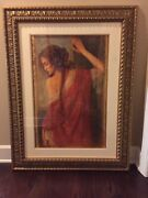 Tomasz Rut Framed Oil Painting 43h By 33w Limited Edition Rare Free Shipping