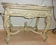 Extremely Rare French Renaissance Glass Tray Coffee Table Carved Water Creature