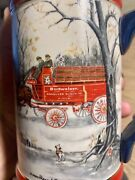 Bud Mug Budweiser Stein Clydesdales Horses Holiday Beer 1990 Collectors Gift