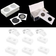 600 Pieces Coin Flips Thick Cardboard Coin Collecting Holder For All Sizes