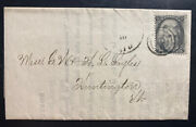 1864 Boston Ma Usa Vintage Letter Sheet Commercial Cover To Huntington Vt