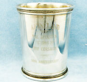 Ronald Reagan Sterling Silver Presidential Mint Julep Cup W/mono-keeneland Track