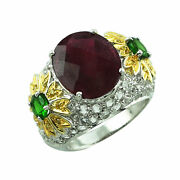 Red Ruby Gf Gemstone Jewelry 14k Yellow Gold Ring   A Precious Gift For Her