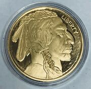 2012 50 Buffalo Tribute 24k Pure Gold Clad Bronze National Collector's Mint