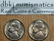 1950 P And D - Jefferson 5andcent Nickels - Uncirculated - Lot Of 2 Coins