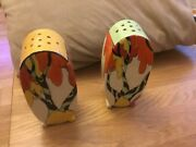 Clarice Cliff Honolulu Pattern Bonjour In Pairs.