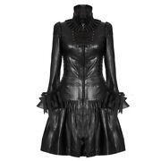 Womenand039s Unique Leather Corset Dress Coat In Black Victorian Style By Impero