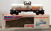 Lionel Nos 9150 Gulf Tank Car-1970 Transition Piece With Pw Aar Trucks