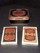 Golden Nugget Casino Playing Cards Type 6 Two Decks Black And Gold With Tin