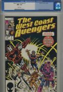 West Coast Avengers 1 Cgc Nm+ 9.6 White Pages Old Label Iron Man Sharp Book