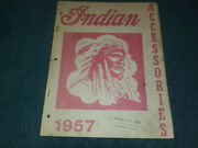 1957 Indian Motorcycle Accessories Book / Original Option Catalog