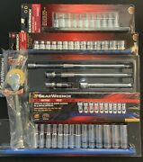 Gearwrench 3/8andrdquo Dr. Socket Sets + Extensions + Ratchets + Hex-torx