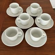 Set 6 Williams Sonoma Everyday Dinnerwear White Cup And Saucer