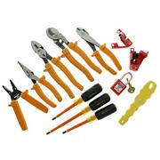 Basic Insulated Tool Kit Electrical Hand Tools Set Pliers Screwdrivers 12 Piece