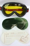 Rare Swan Motorcycle Vintage 50's Goggles Glasses Aviator Style Retro Classic