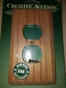 New Oak Wood Light Wall Plate Plug Outlet Receptacle Decorative Switchplate Deco