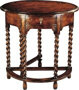 Scarborough House Hall Table Handcrafted Distressed Wood Twist Legs