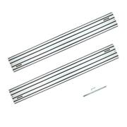 55 In. Aluminum Extruded Guide Rail Joining Set Compatible With Dewalt Track Saw