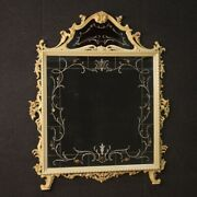 Mirror In Lacquered Wood Painted Mirrors Furniture Flowers Frame Antique Style