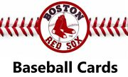 You Pick Your Cards - Boston Red Sox - Baseball Team Card Selection