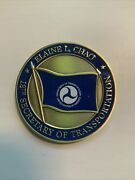 Elaine L Chao 18th Secretary Of Transportation Challenge Coin