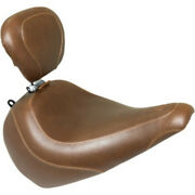 Mustang Brown Front Wide Tripper Driver Solo Seat Backrest Harley Fat Boy 18+