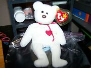 Ty Beanie Baby Valentino The Bear W/ Brown Nose Original Perfect W/ Tag Error