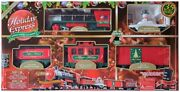 Holiday Express Christmas Train Set Battery Operated With Wireless Remote 35piec