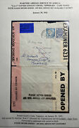 1943 Goold Cross Ireland Airmail Censored Cover To Cape Town South Africa Oat