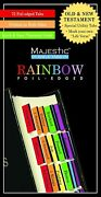 Foil Edged Bible Indexing Tabs 84 Pcs New Majestic Rainbow Old And New Testament