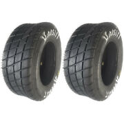 2 Hoosier Atv Front 18x5.5x10 Tt/flat Track Tires D12 Compound By Gps 16250