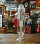 Antique Pedestal Candy Jar 24 General Store Glass Or Apothecary Vintage Glass