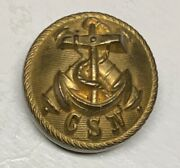 Confederate Navy Officers Civil War Coat Button
