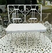 Vintage Antique Small Childs / Doll Size Ice Cream Parlor Settee Chair
